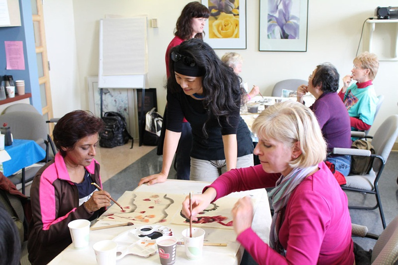 Chinese Ink Painting workshop for Women Living with Breast Cancer 2012