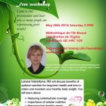 Nutrition Workshop : Optimize Your Health