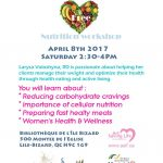 Nutrition Workshop : Optimize Your Health 2017