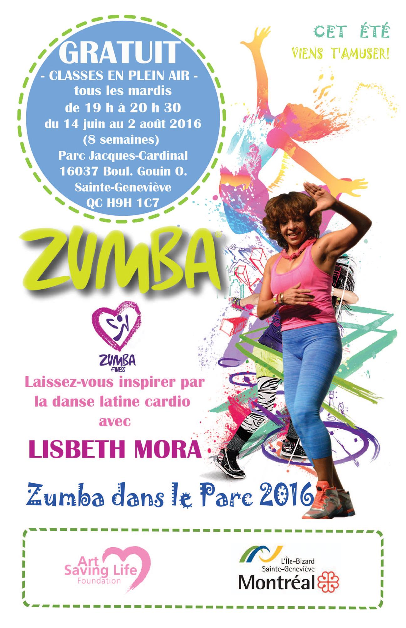 Zumba poster design - Zumba Summer Outdoor 2016 French Poster 11x17web