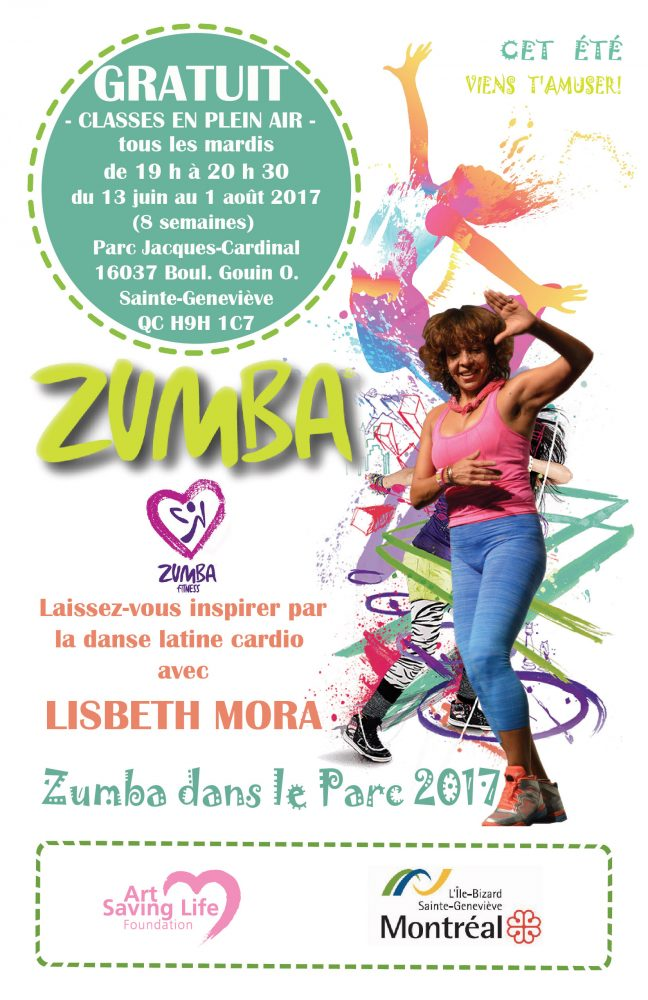 zumba summer outdoor 2016 French poster 11x17